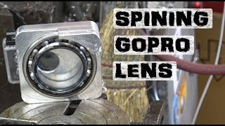 Homemade Spinning Lens | self-cleaning gopro prototype