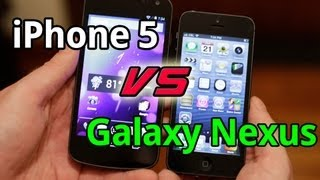 iPhone 5 vs Galaxy Nexus