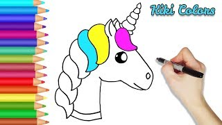 How to Color Rainbow Unicorn Part 2 | Teach Drawing for Kids and Toddlers Coloring Page Video
