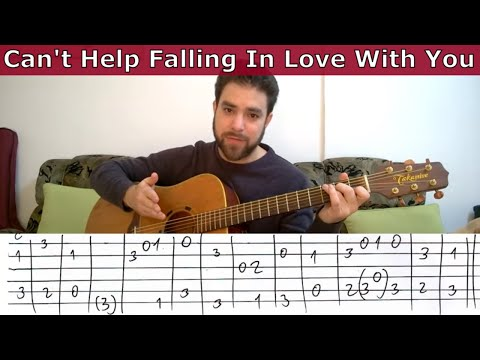 Fingerstyle Tutorial: Can't Help Falling In Love - Guitar Lesson W/ TAB