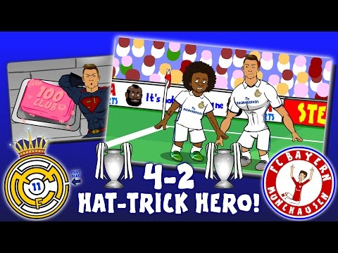4-2! 👊RONALDO is HAT-TRICK HERO👊 Real Madrid vs Bayern Munich (Parody Goals Highlights 2017) thumbnail