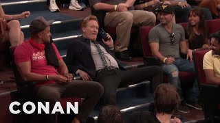 Conan Confiscates An Audience Member's Phone - CONAN on TBS
