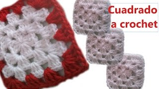 Tutorial  Cuadrado  Fácil a Crochet (Ganchillo)
