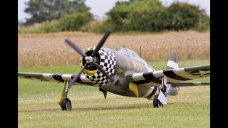 "MOKI 250cc 1/4 SCALE CARF MODELS REPUBLIC P-47 THUNDERBOLT ""SNAFU"" - WILLIS WARBIRDS - 2017"