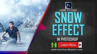 How to Fake Snow Effect in Photoshop- Tutorial for Beginners