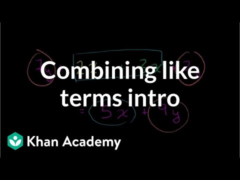 Combining like terms introduction | Introduction to algebra | Algebra I | Khan Academy