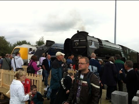 Railfest at NRM, York 2nd June 2012 Including: BBMF & Renaming of '91110'