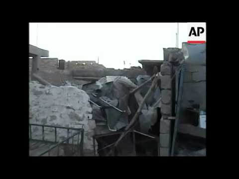 Aftermath of offensive in northern Iraq; abandoned buildings; empty streets