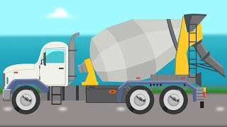 Cement Truck | Formation and Uses | Construction Vehicle | Learning Video