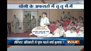 Caught On Camera: SP misbehaves with SSP during a meeting in Uttar Pradesh
