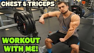 Chest & Triceps Workout | Workout With Me @ the Gym #3