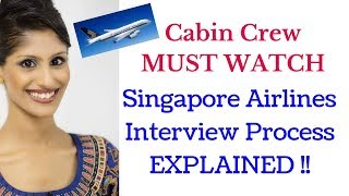 Singapore Airlines cabin crew interview process