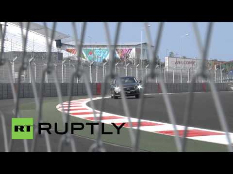 Russia: F1's Sebastian Vettel tests out Russia's first ever Grand Prix track