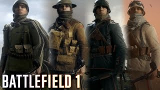 Battlefield 1 - All Outfits and Military Uniforms (All Classes Clothes) SHOWCASE