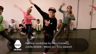 Justin Bieber - What Do You Mean? Hip-hop workshop by Nika Karare - Open Art Studio