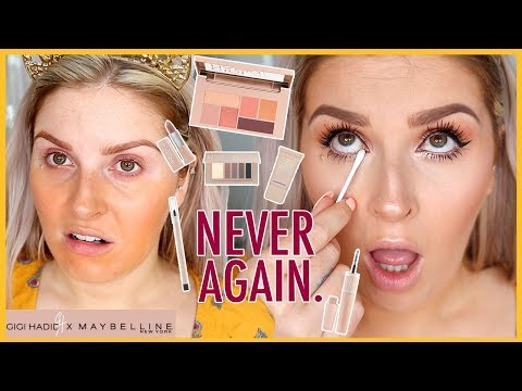 GIGI HADID MAYBELLINE COLLECTION 😫🗯 First Impressions... WTF