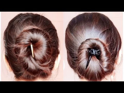 2 Quick Banana Clip/Clutcher Bun Hairstyles | Everyday Easy Simple Hairstyles |AlwaysPrettyUseful