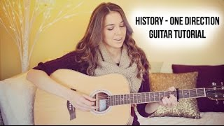 History Guitar Tutorial - One Direction // Easy