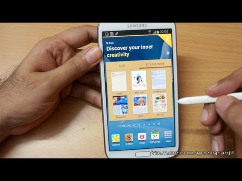 Samsung Galaxy Note 2 Hands On First Looks
