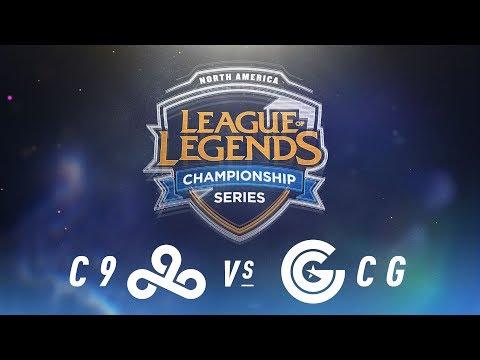 C9 vs. CG - Week 6 Day 2 | NA LCS Spring Split | Cloud9 vs. Clutch Gaming (2018)