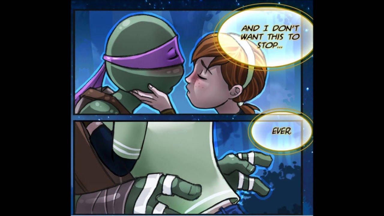 Teenage mutant ninja turtles april and donatello kiss - photo#26