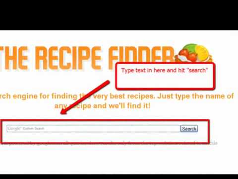 Foodnetwork.com and allrecipe.com Search Engine for finding recipes