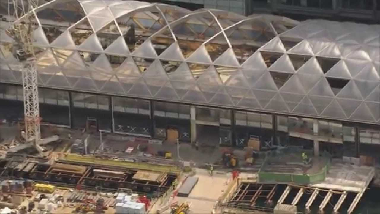 Crossrail Canary Wharf Station Bird S Eye View Of Roof