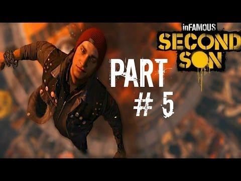 Let's Play Infamous: Second Son - Part 5 (Cole's Legacy Part 1 / Market District Showdown) Gameplay