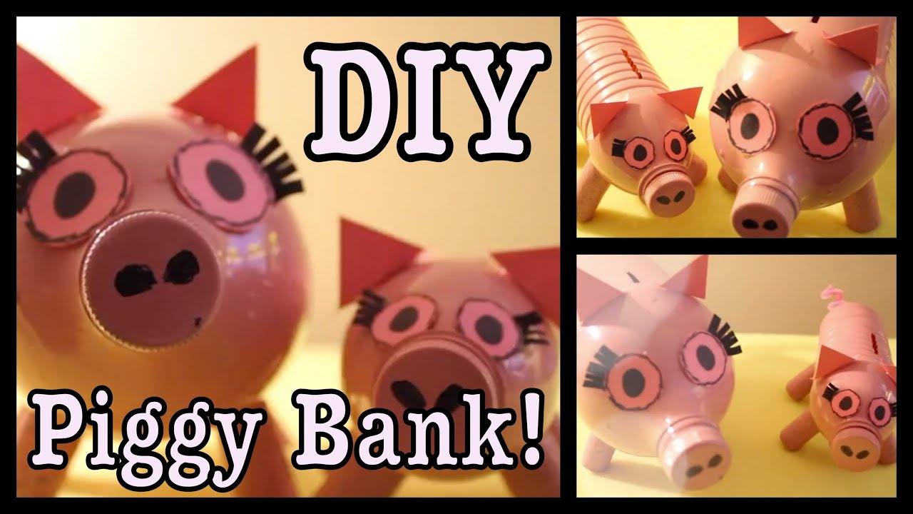 diy cute girly piggy banks youtube. Black Bedroom Furniture Sets. Home Design Ideas