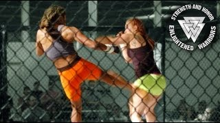Brittany vs. Jade Amateur Female MMA Fight - Belts of Honorious - YouTube