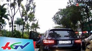 Va chạm giao thông và cách ứng xử bất ngờ của tài xế xe sang