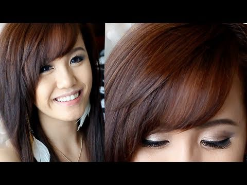 How to Cut & Style Side Swept Bangs