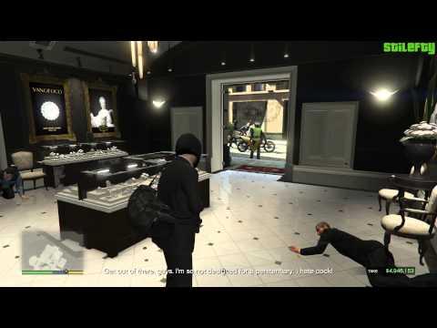 GTA 5 PC - Mission #12 - The Jewel Store Job - Alternative Cutscene (Loud)