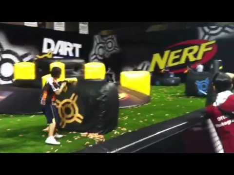 Opening rounds at Nerf Dart Tag championships