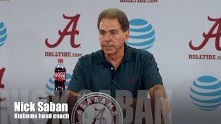 Nick Saban turns focus to Ole Miss - Full Press Conference