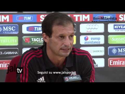 Conferenza stampa Massimiliano Allegri (pre Milan-Sampdoria)