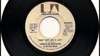 Treat Her Like A Lady Cornelius Brothers Sister Rose 1971 Vinyl 45rpm