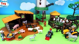 Playmobil Farm Building Playsets and Animals Toys Figures For Kids