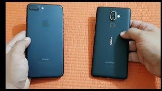 Nokia 7 plus vs IPhone 7 plus - Speed Test .
