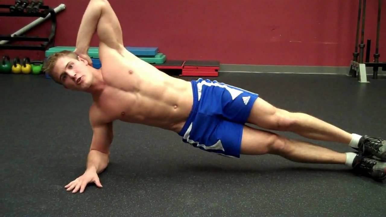 Oblique Crunches Exercise How To Side Oblique Crunch