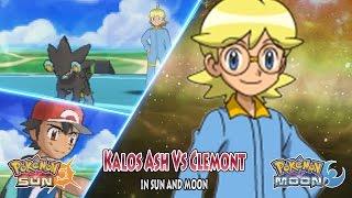 Pokemon Sun and Moon: Kalos Ash Vs Clemont (Pokemon XYZ Battle)