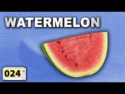 watermelon in microwave