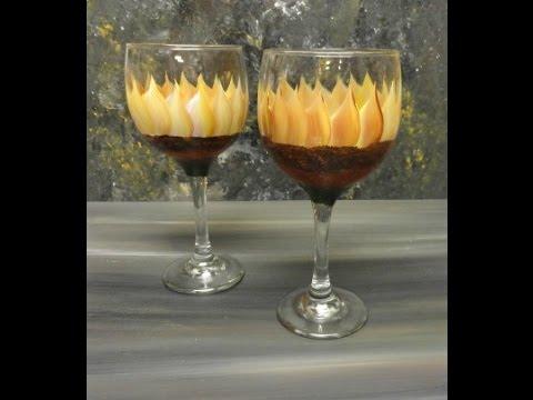Sunflower Glass Painting Video