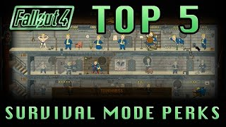 Fallout 4 | TOP 5 Perks For Survival Mode! (Top 5 Perk List)