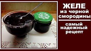 Желе из черной смородины на зиму . Самый простой рецепт