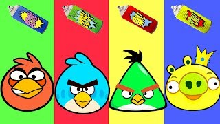 Baby Learn Colors with Wrong Colors Angry Birds | Learning Videos For Kids - Kids Video For Kids