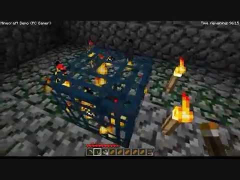 【Minecraft Demo】 #37 spider spawner スパイダーのスポーンブロックまで4分