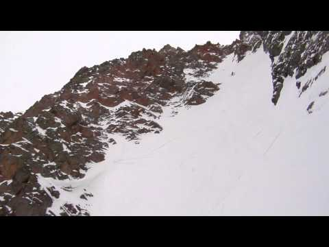 Sven Brunso & John Trousdale ski Naked Lady Couloir in Colorado backcountry