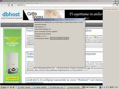 Scaricare istallare e usare Mirc Power Script