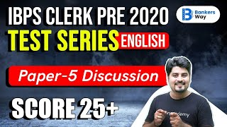 9:00 AM - IBPS Clerk Pre 2020 | English by Vishal Parihar | Test Series Paper-5 Discussion
